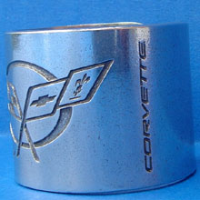 C5 Corvette Napkin Rings Side View