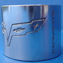 C6 Corvette Napkin Rings Side View