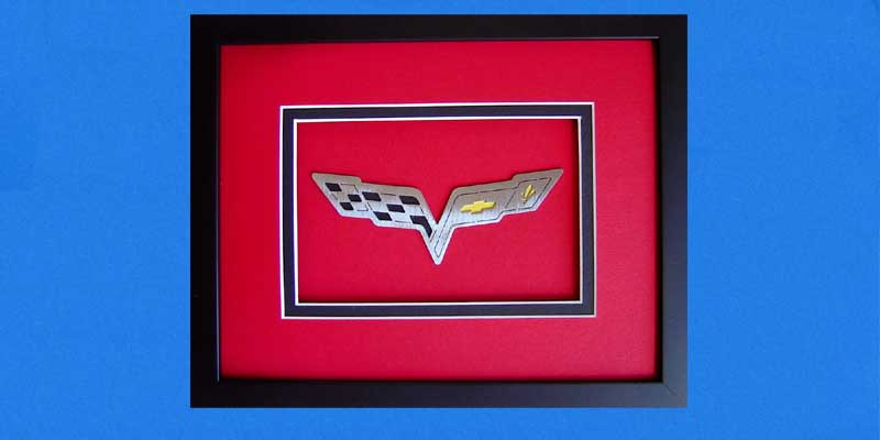 Custom Corvette Shadowbox C6 Red
