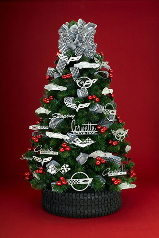 Corvette Christmas Ornaments - Car Art Work: Corvette In Steel